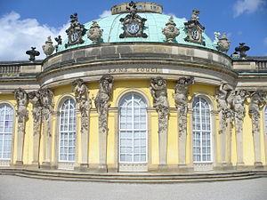 Deutsch: Schloß Sanssouci(frz.sans souci = ohn...