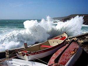 A storm at Pors-Loubous, Plogoff, Finistère, F...