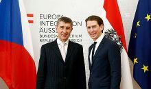 Babiš with Austrian Foreign Minister Sebastian Kurz in February 2015