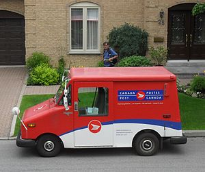 Canada Post LLV in service