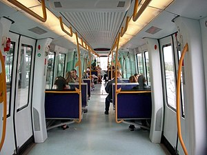 Interior of a Copenhagen Metro unit