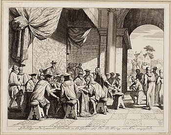 English: Engraving of Council of Troubles