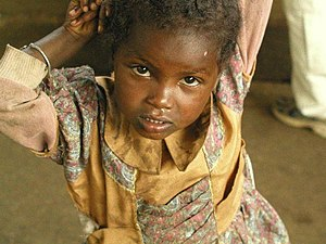 An Ethiopian child