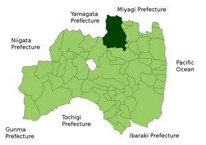 Location Map of Fukushima city in Fukushima Pr...