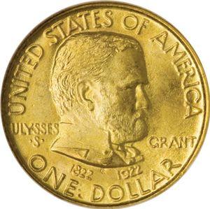 Grant commemorative dollar coin