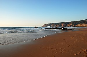 the beach of Guincho, west coast of Portugal