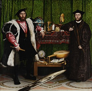 Holbein's The Ambassadors is a complex work wh...