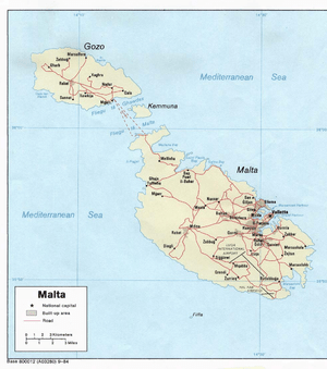 An enlargeable map of the Republic of Malta