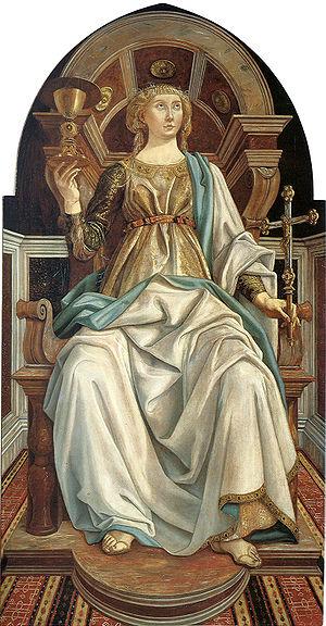 Pollaiolo, Piero 1441 - 1496 Faith 1469-70 Tem...