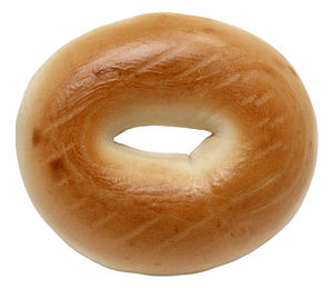 A plain bagel, bought from an Associated groce...