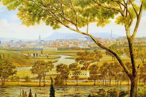 "State Library of Victoria - Joy of Museums - ""Melbourne from the Botanical Gardens"" 2"