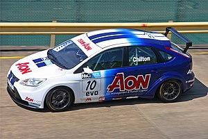 English: Tom Chilton driving his Ford Focus ST...