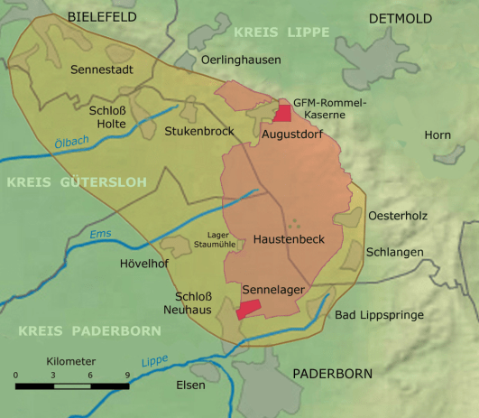 The British Army's Training Area at Sennelager