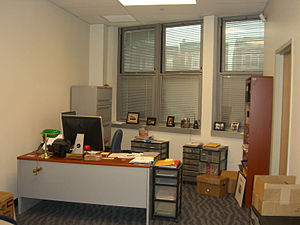 The principal's office of Union City High Scho...