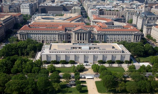 Aerial view of National Museum of American History