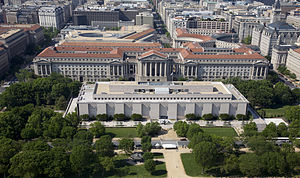 Aerial view of the National Museum of American...