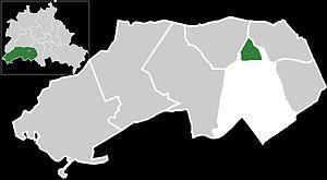 Location of Lichterfelde West within Borough o...