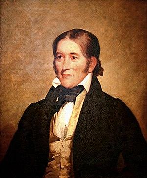 English: Oil on canvas portrait of Davy Crocke...