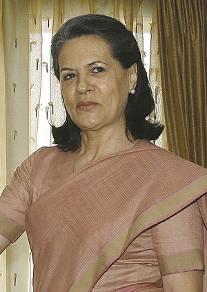 English: Sonia Gandhi, Indian politician, pres...