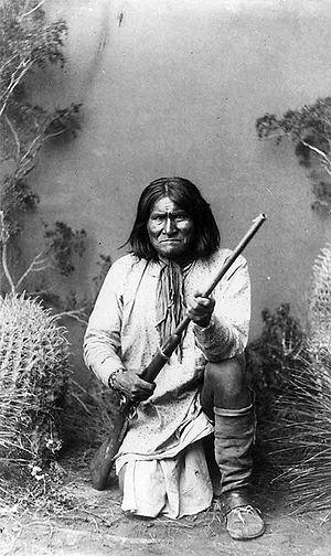Geronimo (Goyathlay, 1820–1909), a Chiricahua ...