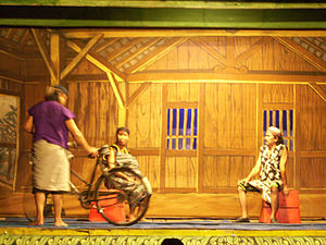 English: Kethoprak (Javanese popular drama dep...