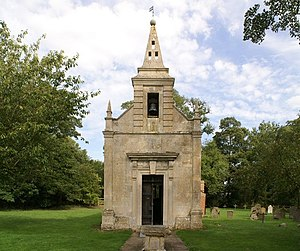 English: Little Gidding Church, near to Little...