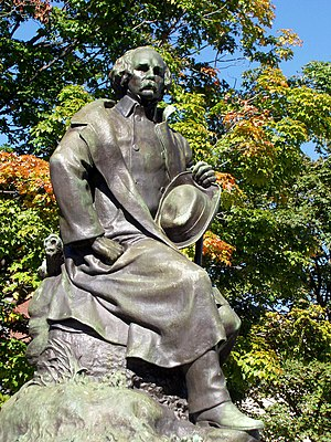Statue of Nathaniel Hawthorne by sculptor Bela...