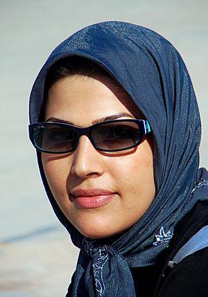 Persian girl from Iran wearing the hijab.