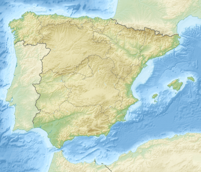 File Relief Map of Spain png   Wikipedia File Relief Map of Spain png