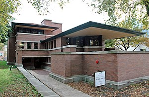 Frank Lloyd Wright's Robie House on the campus...