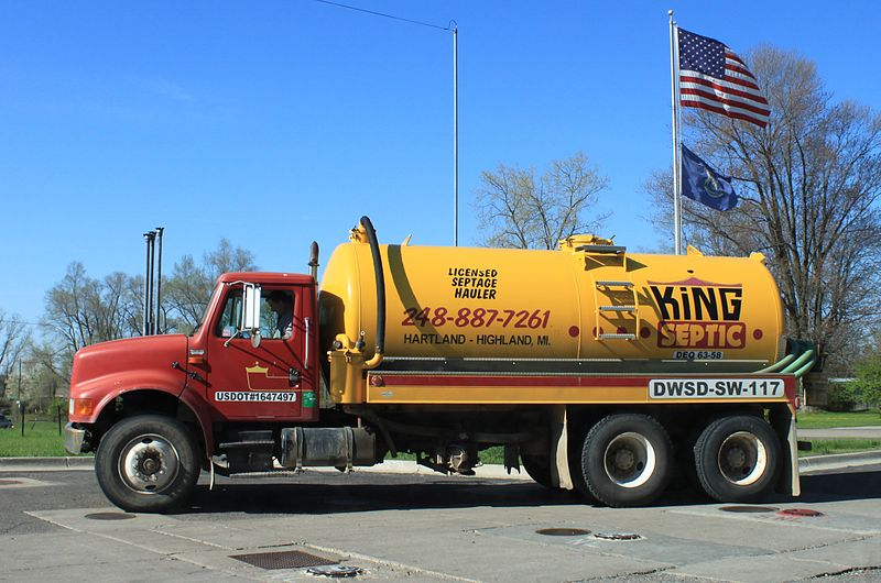 File:Septage pump truck Highland Michigan.JPG