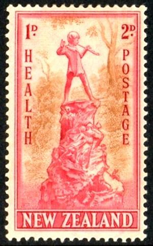 1945 New Zealand Health stamp, Charity stamp. ...