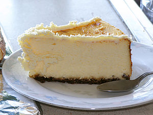 Homemade cheesecake.