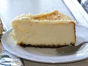 Homemade cheesecake.