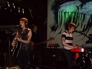 Tegan and Sara playing a show in Hamburg, Germ...