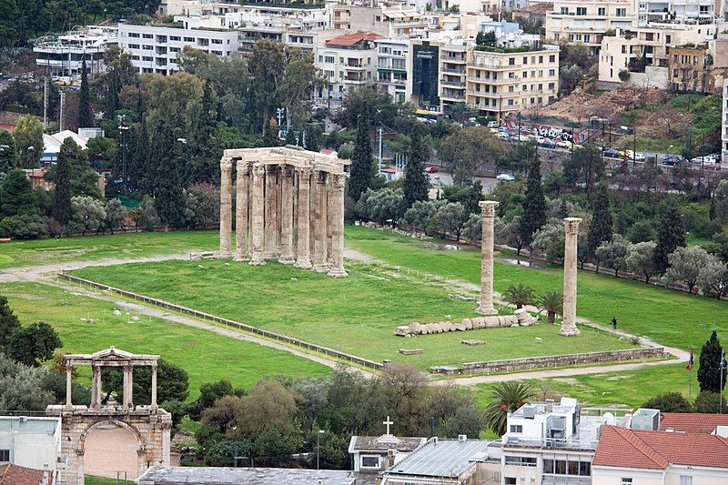 File:Temple of Zeus from Athens Acropolis 2010 3.jpg
