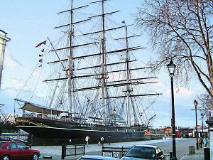 The Cutty Sark in Greenwich, London, UK