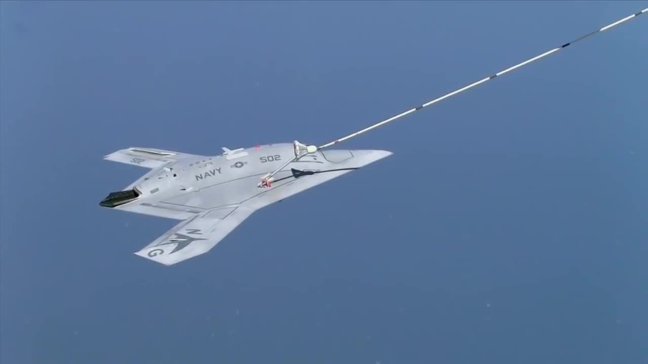 File X 47b First To Complete Autonomous Aerial Refueling