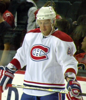English: Montreal Canadiens forward Andrei Kos...