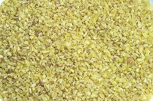 English: Uncooked bulgur wheat