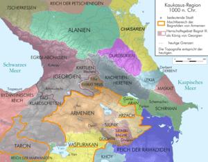 Map of Caucasus Region at 1000 AD before death...