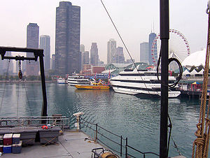 Chicago Navy Pier from the Lake Guardian