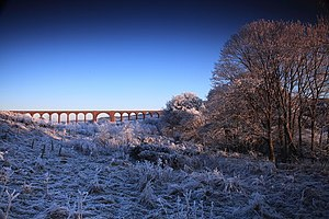 Culloden viaduct, late afternoon and hard frost.