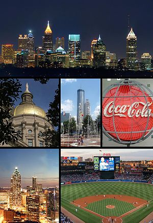 Montage of Atlanta images. From top to bottom ...
