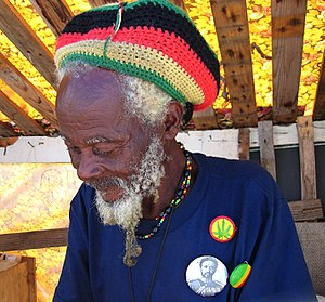 English: Disciple of the Rastafari movement en...