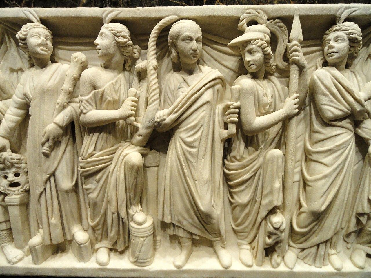 File Roman Sarcophagus Detail Rome 240 260 Ce