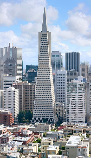 English: Transamerica building, downtown San F...