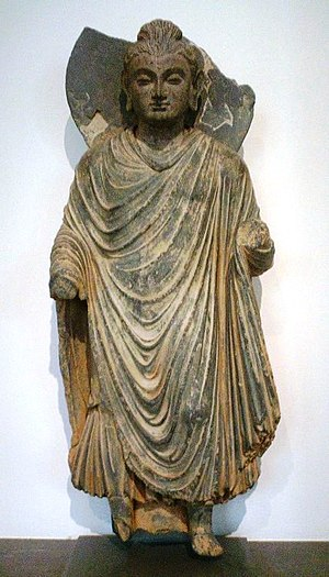 Buddha statue from the Gandhara-culture (1st c...