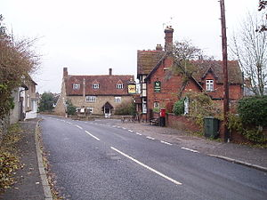 Stevington village centre.
