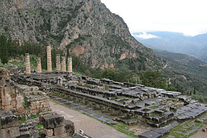 The Temple of Apollo at Delphi, Greece